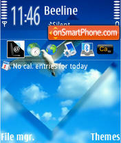 Blue Sky 02 theme screenshot