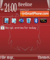 Скриншот темы Red 07
