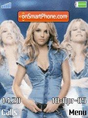 Скриншот темы Britney With Mp3