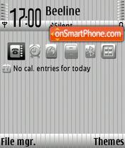 Скриншот темы Pinstripe Gray