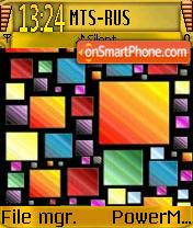 Squares es el tema de pantalla