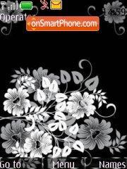 Скриншот темы Abstract Black Flowers