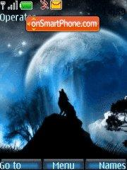 Night wolf theme screenshot