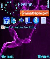 Скриншот темы Purple Smoke