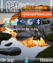 Upfone Mountain es el tema de pantalla