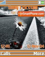 Flower at Road es el tema de pantalla