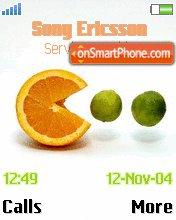 Orange and Lime es el tema de pantalla