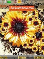 Yellow Sunflower theme screenshot