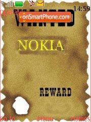 Скриншот темы Wanted Nokia