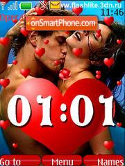 Love clock animated(SWF) es el tema de pantalla