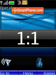 Blue Clock Indicator es el tema de pantalla