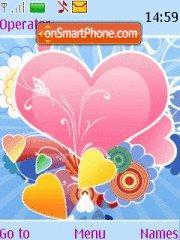 Rainbow Hearts theme screenshot
