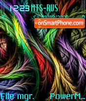Скриншот темы Colors Feathers