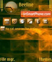 FireSquares theme screenshot