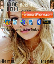 Hilary Duff 19 theme screenshot