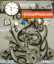 Skullface tema screenshot