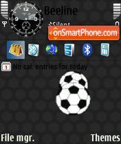 Animated Soccer Ball theme screenshot