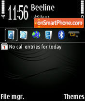 Скриншот темы Stave Black