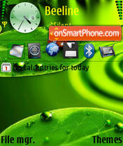 Green 3d v2 theme screenshot
