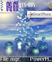 3D Bubble theme screenshot