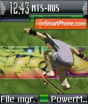 Skater Boy theme screenshot