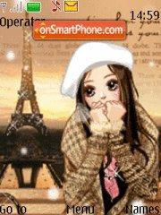 Cute Love 01 es el tema de pantalla