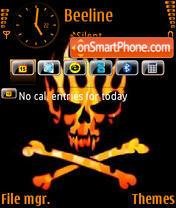 Скриншот темы Orange Skull