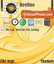 D-Orange theme screenshot