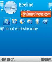 Vector Blue theme screenshot