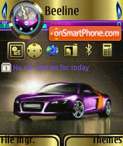 Audi R8 Pro theme screenshot