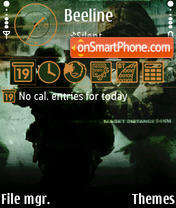 Call of Duty 4 theme screenshot
