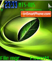 Leaf es el tema de pantalla