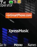 Nokia Xpress Music Blue theme screenshot