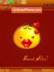 Kissing Smiley theme screenshot
