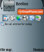 Скриншот темы Grey to blue v2