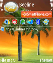 Palm Tree tema screenshot