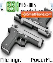 9mm Pistol theme screenshot