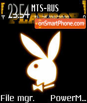 Playboy Logo 02 tema screenshot