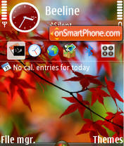 Red Vista theme screenshot
