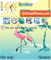 Flamingo theme screenshot