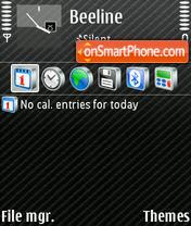 Скриншот темы Menu Style Black