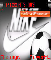 Скриншот темы Nike