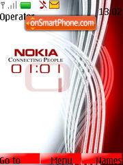 Скриншот темы Nokia Clock swf