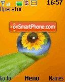 Sunflower Droplet theme screenshot
