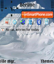 Snow Mountain 01 theme screenshot