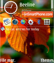 Autumn Leafs theme screenshot