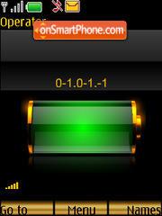 SWF clock $ indicator es el tema de pantalla
