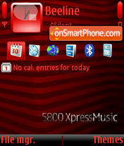 Nokia Tube tema screenshot