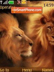 Abstract Lion theme screenshot