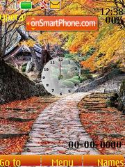 Autumn clock swf es el tema de pantalla